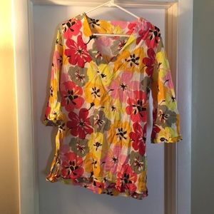 Colorful blouse size Med